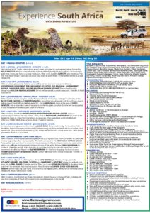EXPERIENCE SOUTH AFRICA WITH SAFARI ADVENTURE