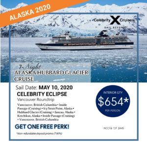 7 Night Alaska Hubbard Glazier
